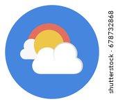 cloud sun weather icon | Shutterstock .eps vector #678732868