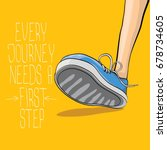 vector motivation quote every... | Shutterstock .eps vector #678734605
