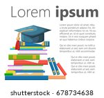 books graduation cap and icon... | Shutterstock .eps vector #678734638