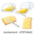 knife spreading butter or... | Shutterstock .eps vector #678734662