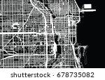 vector city map of chicago   | Shutterstock .eps vector #678735082