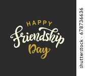 happy friendship day cute... | Shutterstock .eps vector #678736636