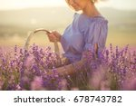 a woman collects lavender | Shutterstock . vector #678743782
