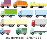 colorful cargo trucks  vans and ... | Shutterstock .eps vector #67874386
