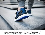 urban blue sneakers  sneakers...   Shutterstock . vector #678750952
