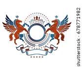 graphic vintage emblem composed ... | Shutterstock .eps vector #678771982