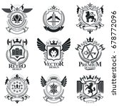heraldic signs  elements ... | Shutterstock .eps vector #678772096