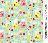 seamless pattern with summer... | Shutterstock .eps vector #678774328