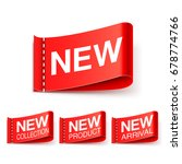 new labels collection | Shutterstock .eps vector #678774766