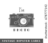 hipster label isolated on white ... | Shutterstock .eps vector #678777142