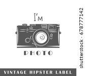 hipster label isolated on white ... | Shutterstock .eps vector #678777142