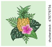tropical arrangement with...   Shutterstock .eps vector #678778756