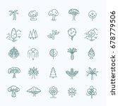 set of tree shape vector line... | Shutterstock .eps vector #678779506