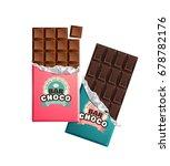 dark and milk candy chocolate... | Shutterstock .eps vector #678782176