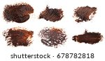 stain of oil brown paint on... | Shutterstock . vector #678782818