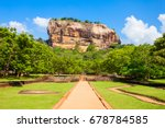sigiriya rock or lion rock is... | Shutterstock . vector #678784585