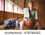 portrait of female basketball... | Shutterstock . vector #678786562