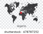 a map of the world with the... | Shutterstock .eps vector #678787252