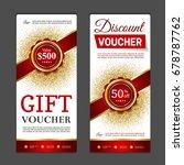 gift voucher template. can be...   Shutterstock .eps vector #678787762