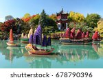 botanical garden  montreal ... | Shutterstock . vector #678790396