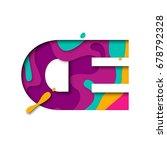 paper cut letter oe ligature.... | Shutterstock .eps vector #678792328