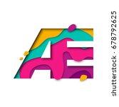 paper cut letter ae ligature....   Shutterstock .eps vector #678792625