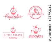 vector logo design. cupcakes... | Shutterstock .eps vector #678793162