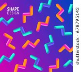 geometric shape color... | Shutterstock .eps vector #678795142