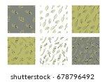 olive brunch seamless pattern.... | Shutterstock .eps vector #678796492