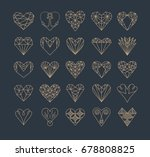 set of simple line icons of... | Shutterstock .eps vector #678808825