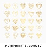 set of simple line icons of... | Shutterstock .eps vector #678808852