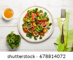 smoked salmon  avocado and... | Shutterstock . vector #678814072