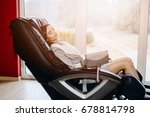 young woman relaxing on the... | Shutterstock . vector #678814798