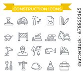 constriction icon set  thin... | Shutterstock .eps vector #678820165