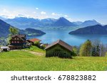 aerial view of the alps...   Shutterstock . vector #678823882
