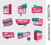 set of sale banners on a light...   Shutterstock .eps vector #678825796