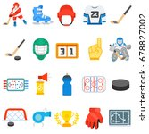 hockey. icons collection.... | Shutterstock .eps vector #678827002