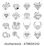 diamonds icon set | Shutterstock .eps vector #678834142