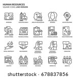 human resources  square icon...