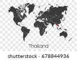 a map of the world with the... | Shutterstock .eps vector #678844936