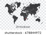 a map of the world with the... | Shutterstock .eps vector #678844972