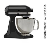 black kitchen or stand mixer... | Shutterstock . vector #678845515