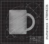 vector blueprint cup for tea or ... | Shutterstock .eps vector #678848236