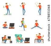 bad habits set  alcoholism ... | Shutterstock .eps vector #678851068