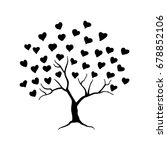 love tree with leaves from...   Shutterstock .eps vector #678852106