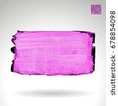purple brush stroke and texture....   Shutterstock .eps vector #678854098