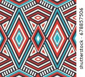 vector seamless ethnic pattern | Shutterstock .eps vector #678857506