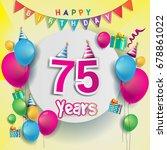 75th years anniversary... | Shutterstock .eps vector #678861022
