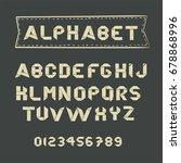 origami  paper alphabet. abc.... | Shutterstock .eps vector #678868996