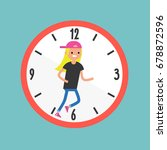 running out of time conceptual... | Shutterstock .eps vector #678872596